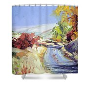Country Blue Sky Shower Curtain