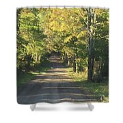 Country Road In Fall Shower Curtain
