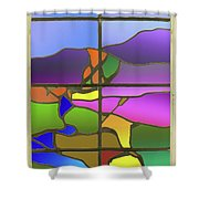 Country View With Frame Shower Curtain