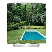 Courtyard Entrance Shower Curtain