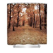 Covered Path Shower Curtain