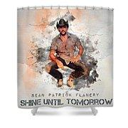 Cowboy Flanery Shower Curtain