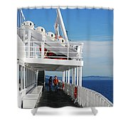 Cozy Walk -  Painterly Ferry To Victoria Shower Curtain