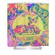 Crafty Car Commercial Shower Curtain