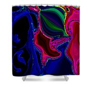 Crazy Abstract Amoeba Shower Curtain