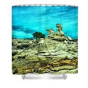 Crazy Rock Formations In New Mexico Shower Curtain