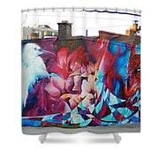 Creative Splash Of Artwork Shower Curtain