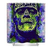 Frankenstein Watercolor Shower Curtain