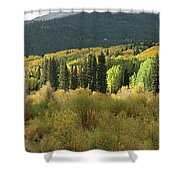 Crested Butte Colorado Fall Colors Panorama - 1 Shower Curtain