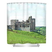 Crighton Castle In Summer Shower Curtain
