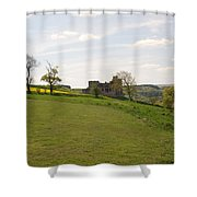 Crighton Castle Ruins And Hills, Midlothian Shower Curtain