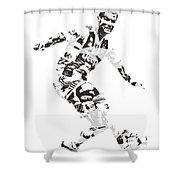 Cristiano Ronaldo Juventus Pixel Art 1 Shower Curtain