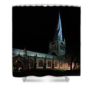 Crooked Spire 3 Shower Curtain