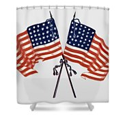 Crossed Civil War Union Flags 1861 - T-shirt Shower Curtain