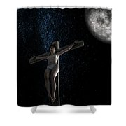 Crucifiction Surreal Shower Curtain