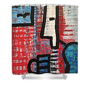 Cup Of Joe By The Sea Shower Curtain