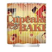 Cupcake Bake 1958 Shower Curtain