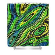 Curved Lines 5 Shower Curtain