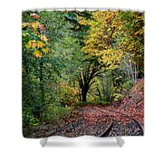 Curved Tracks Shower Curtain