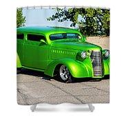 Custom 1938 Chevrolet 2 Door Coach  Shower Curtain