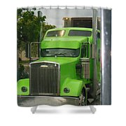 Custom Green Boca Shower Curtain
