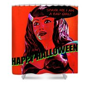 Custom Halloween Card She-devil Shower Curtain