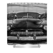 Customized 1950 Mercury In Bw Shower Curtain