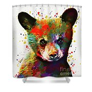 Cute Baby Bear Shower Curtain