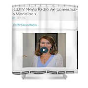Cutv News Radio Welcomes Back Dr. Victoria Mondloch Shower Curtain