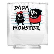 Dada Monster Cute Monster Cartoon For Kids And Dad Light Shower Curtain