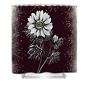 Daisy Sparkle Shower Curtain