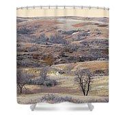 Dakota Prairie Slope Reverie Shower Curtain