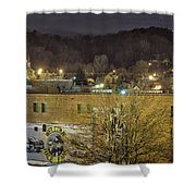 Dale Earnhardt Mural And Christmas Star Shower Curtain