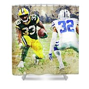 Dallas Cowboys Against Green Bay Packers. Shower Curtain