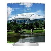Dallas Cowboys Att Stadium Arlington Texas Shower Curtain by Robert Bellomy