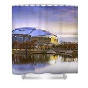 Dallas Cowboys Stadium Arlington Texas Shower Curtain by Robert Bellomy
