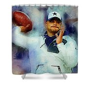Dallas Cowboys.dak Prescott. Shower Curtain