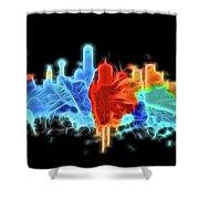 Dallas Neon Color Blast Shower Curtain