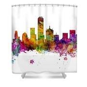 Dallas Texas Skyline Panoramic Shower Curtain