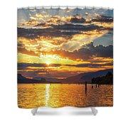 Dalton Point Sunrise Shower Curtain