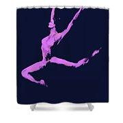 Dancer In The Dark Blue Shower Curtain