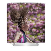 Dancing And Cherry Blossoms Shower Curtain