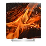 Dancing Flames Shower Curtain
