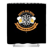 Darts And Beer What Else Is There Dart Player Shower Curtain