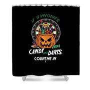 Darts Dart Pumpkin Jack O Lantern Halloween Shower Curtain