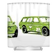 Datsun 510 Comic Strip Shower Curtain