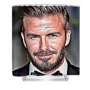 David Beckham Shower Curtain