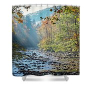 Dawn At Metcalf Bottoms Shower Curtain