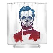 Dead Lincoln Shower Curtain