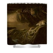 Death Of The Old Man Shower Curtain